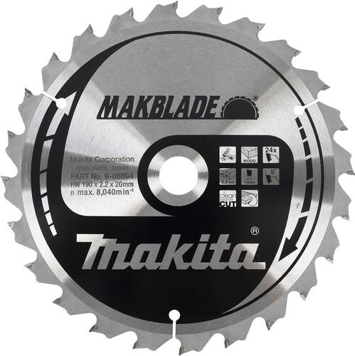 Makita Zaagblad Hout 190x20x2.2 24T Main Image