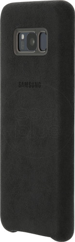 Samsung Galaxy S8 Plus Alcantara Back Cover Zwart Main Image