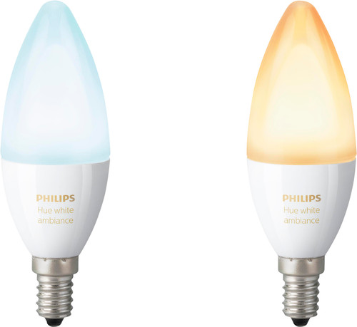 Philips Hue White Ambiance E14 Duo Pack Main Image