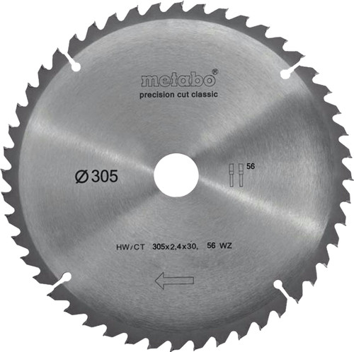 Metabo Zaagblad Precision Cut 305x30x2.4mm 56T Main Image