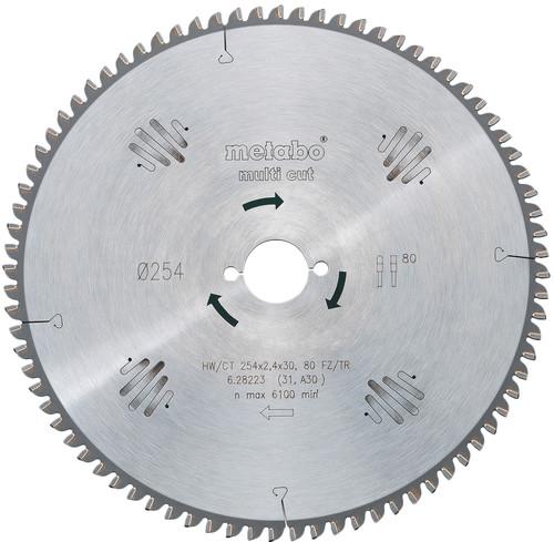 Metabo Zaagblad Multi Cut 254x30x2.4mm 80T Main Image