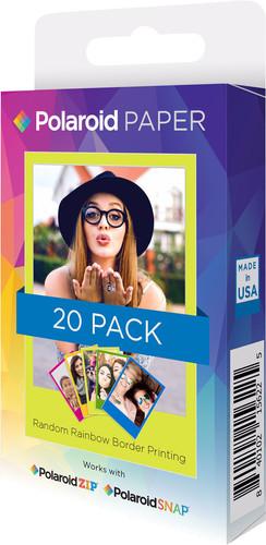 Polaroid ZINK Papier Rainbow 2x3 inch- 20 pak Main Image