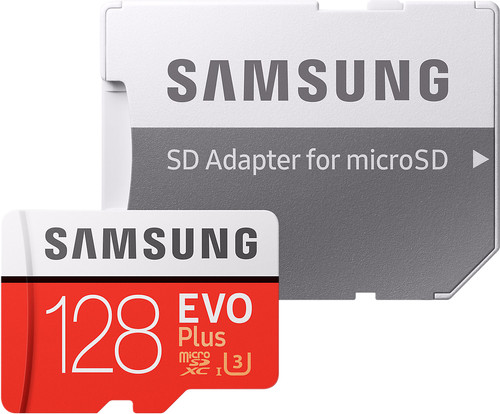 Samsung microSDXC Evo+ 128 GB 100MB/s CL 10 + SD adapter Main Image