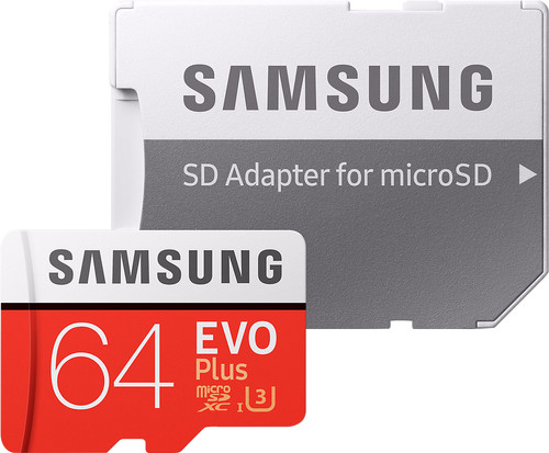Samsung microSDXC EVO+ 64 GB 100MB/s CL 10 + SD adapter Main Image