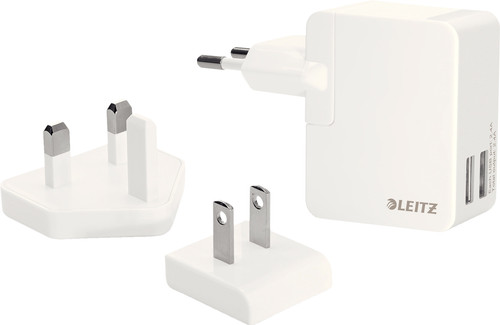 Leitz Complete Travel Charger 2X USB Wit Main Image