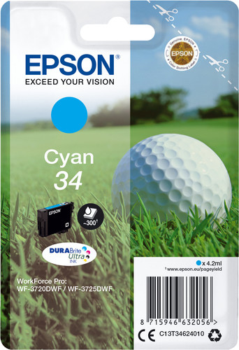 Epson 34 Cartridge Cyan Main Image