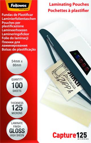 Fellowes Laminator covers 125 micron 54 x 86 (100 pieces) Main Image