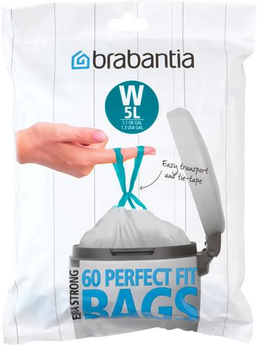 Brabantia Vuilniszakken Code W - 5 Liter (60 stuks) Main Image