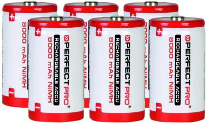 Perfectpro NiMH batterijen 6 x D Main Image