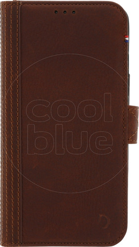 Decoded Leather Wallet Apple iPhone X/Xs Book Case Bruin Main Image