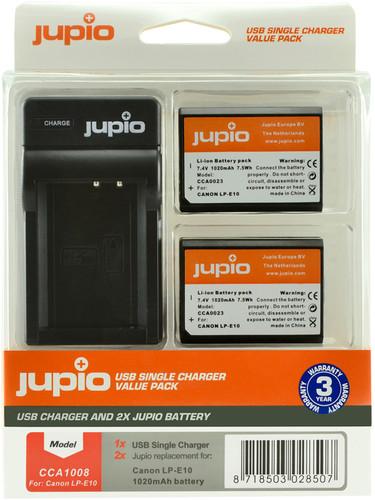 Jupio Kit: Battery LP-E10 (2x) + USB Single Charger Main Image