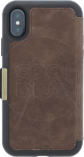 Otterbox Strada Apple iPhone X Book Case Brown Main Image