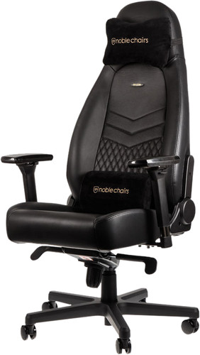 Noblechairs ICON Genuine Leather Gaming Chair Black Main Image