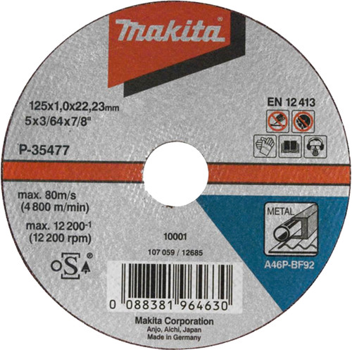 Makita B-35134 Slijpschijf Metaal 125 mm Main Image