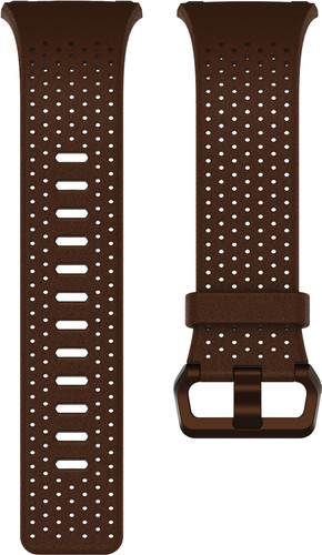 Fitbit Ionic Leather Watch Strap Brown L Main Image