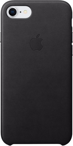 Apple iPhone 7/8 Leather Back Cover Zwart Main Image