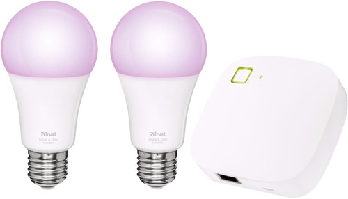 Trust Smart Home White and Color E27 Duopack + Z1 Bridge Main Image