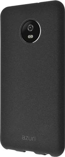 Azuri Flexible Sand Motorola E4 Plus Back Cover Zwart Main Image
