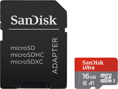 SanDisk microSDHC Ultra 16GB 98MB/s CL10 A1 + SD adapter Main Image