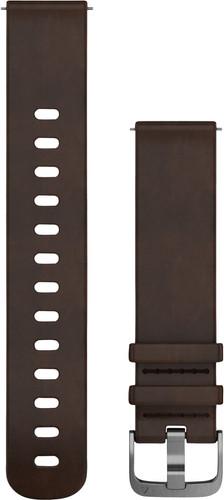 Garmin Vivomove HR Leather Watch Strap L Dark Brown Main Image