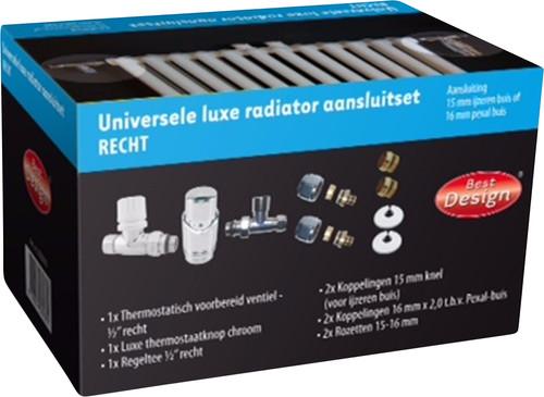 Best Design Universele Luxe Radiatoraansluitset Recht Main Image