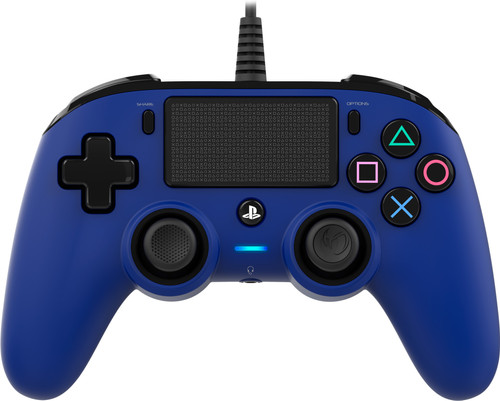 Nacon PS4 Official Wired Controller Blue Main Image