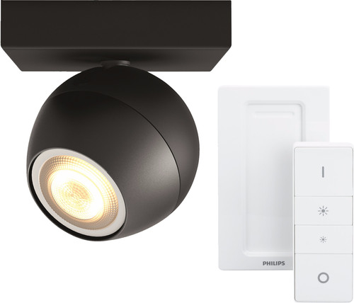 Philips Hue Buckram Spot Black with Dimmer Main Image