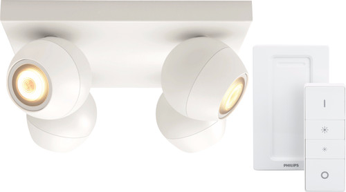 Philips Hue Buckram 4-Spot White with Dimmer Main Image