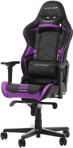 DXRacer RACING PRO Gaming Chair Zwart/Paars Main Image