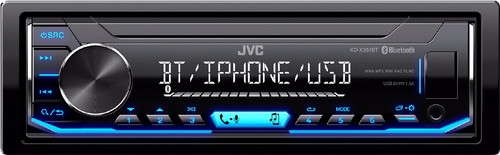 JVC KD-X351BT Blauw Main Image