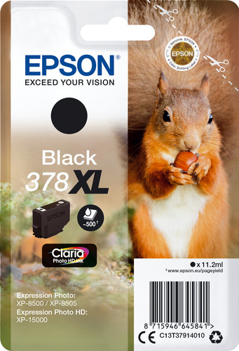 Epson 378XL Cartridge Black Main Image