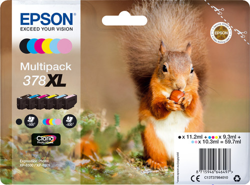 Epson 378XL Cartridges Combo Pack Main Image