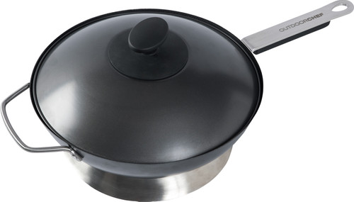 Outdoor chef Wok pan with handle and lid Ø 35 cm Main Image