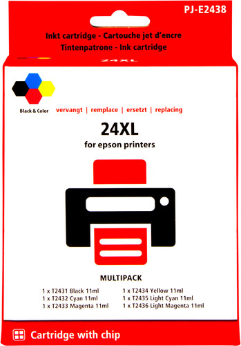 Pixeljet 24XL 6-Color Pack for Epson (C13T24384010) Main Image