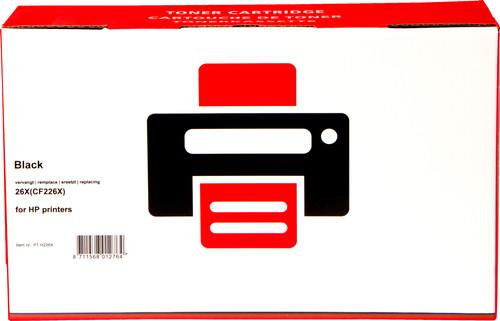 Pixeljet 26A XL Zwart voor HP Printers (CF226X) Main Image