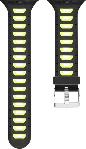 Just in Case Soft Strap for Apple Watch 38 / 40mm Rubber Strap Black / Yellow Main Image