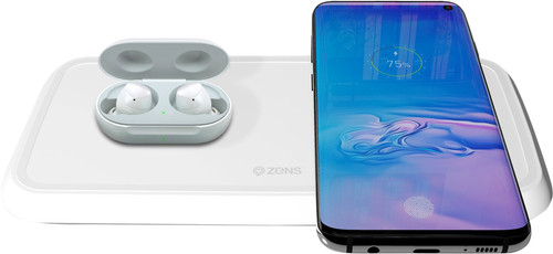 ZENS Dual Fast Wireless Charger 10W White Main Image