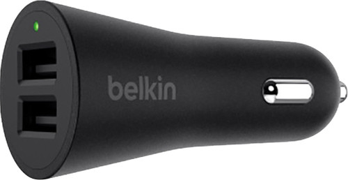 Belkin Car Charger Dual USB 24W Black Main Image