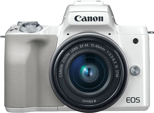 Canon EOS M50 Body White + 15-45mm IS STM Main Image