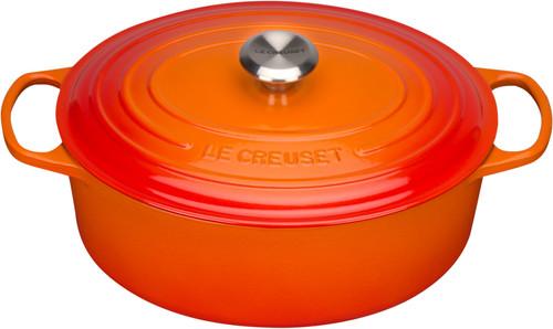 Le Creuset Oval Casserole 31 cm Orange-red Main Image