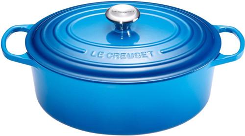 Le Creuset Ovale Braadpan 31 cm Marseilleblauw Main Image