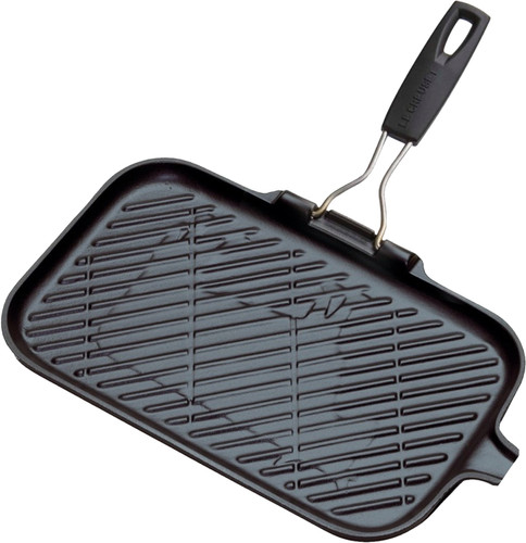 Le Creuset Cast Iron Grill 36 cm Matt Black Main Image