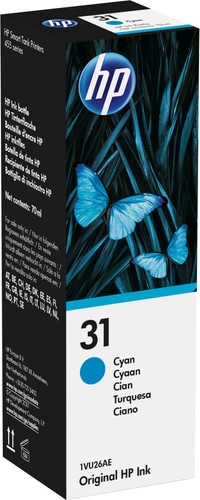 HP 31 Ink Bottle Cyan Main Image