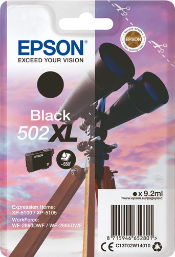 Epson 502XL Cartridge Black Main Image