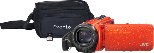 JVC GZ-R495DEU Orange + Memory Card + Bag Main Image