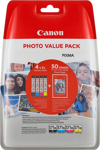 Canon CLI-571XL Cartridges Combo Pack Main Image