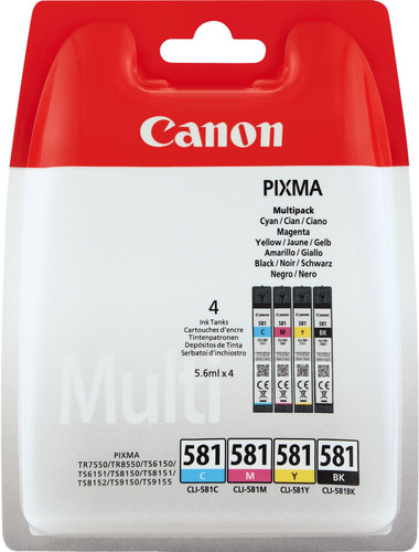 Canon CLI-581 Cartridges Combo Pack Main Image