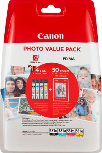 Canon CLI-581XL Value Pack Main Image
