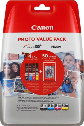 Canon CLI-551XL Cartridges Combo Pack Main Image