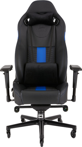 Corsair T2 Road Warrior Gaming Chair Zwart/Blauw Main Image